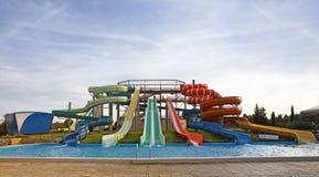 De dia's van Aquapark Stock Afbeeldingen