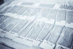 De dia's van de microscoop Stock Foto's