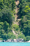 De dia van het land bij eiland Surin Stock Foto