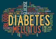 De diabetes info-tekst van de gezondheidszorg Stock Fotografie