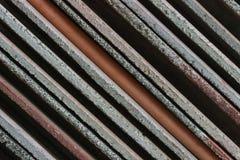 De diagonale achtergrond van het lijnenpatroon van bouwmaterialen Stock Fotografie