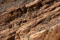 De diagonale achtergrond van rotslagen Stock Foto