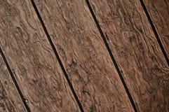 De diagonale Donkere Houten Achtergrond van de Plank Royalty-vrije Stock Fotografie