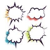De dialoog lege wolk van het strippaginaboek Stock Afbeelding