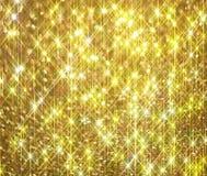 De diamant glanst op een gouden achtergrond stock illustratie