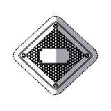 de diamant metaalkader van het stickersilhouet met geperforeerde grill en plaque met schroeven royalty-vrije illustratie