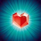 De diamant van de valentijnskaart Stock Foto's