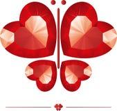 De diamant van de vlinder Royalty-vrije Stock Foto