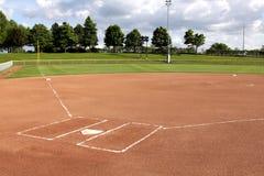 De Diamant van het softball Royalty-vrije Stock Fotografie