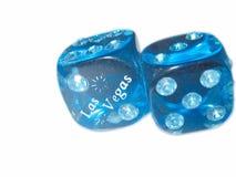 De Diamant van Vegas van Las dobbelt aan zijn kant Stock Foto's