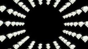 De diamanten roteren luxe het glanzen loopable animatie als achtergrond vector illustratie