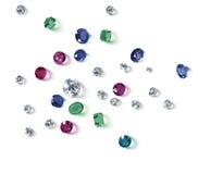 De diamanten zijn de beste vriend van een meisje Stock Afbeelding