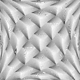 De diamantpatroon van het ontwerp zwart-wit scheefgetrokken net Stock Foto