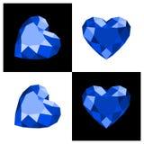 De diamantpictogram van de hartvorm Stock Foto