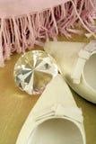 De diamantstilleven van schoenen Stock Fotografie
