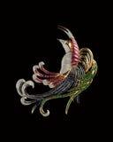 De diamantvogel of broche van de ontwerper Stock Fotografie
