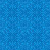 De de diamantvorm van de Ramadanmaan verbindt blauw naadloos patroon royalty-vrije illustratie