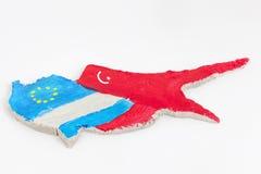 De financiële crisis van Cyprus van het concept Royalty-vrije Stock Foto