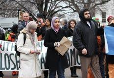 De dichte demonstraties van Guantanamo royalty-vrije stock foto's