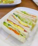 De dichte mening van sandwiches Stock Foto