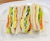 De dichte mening van sandwiches Royalty-vrije Stock Fotografie