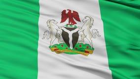 De Dichte omhoog Golvende Vlag van de Abujastad royalty-vrije illustratie
