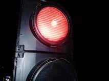 De dichte omhooggaande afleidingsactie van verkeerslichtenwegwerkzaamheden Stock Fotografie