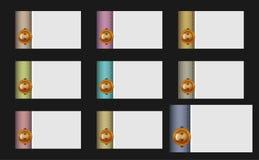 De dichtgeknoopte adreskaartjes van het kostuummanchet Vector Illustratie