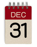 31 de diciembre calendario Fotografía de archivo libre de regalías