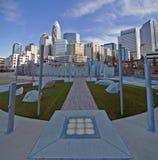 27 de diciembre de 2013, Charlotte, nc - vista del horizonte de Charlotte en Imágenes de archivo libres de regalías
