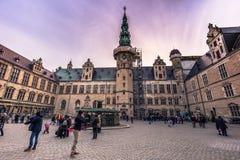 3 de diciembre de 2016: Fachada del patio interno de Kronborg cas Foto de archivo libre de regalías
