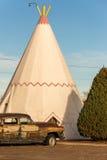 21 de diciembre de 2014 - hotel de la tienda india, Holbrook, AZ, los E.E.U.U.: hote de la tienda de los indios norteamericanos Foto de archivo