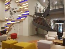 15 de diciembre de 2016 Kuala Lumpur La mirada interior del hotel Ibis diseña Sri Damansara Imágenes de archivo libres de regalías