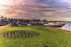 4 de diciembre de 2016: Puerto en Viking Ship Museum de Roskilde, Foto de archivo libre de regalías