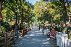 """6 de diciembre de 2017 San Jose/CA/los E.E.U.U. - adentro \ la """"del callejón Navidad en el parque \"""" la exhibición céntrica en la fotos de archivo libres de regalías"""