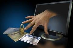 De diefstal van de identiteit op het Web Stock Foto