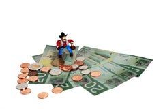De diefstal van het geld royalty-vrije stock afbeelding