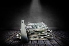 De diefstal van het geld Royalty-vrije Stock Foto