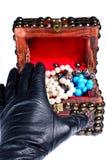De diefstal van Jewelery stock afbeeldingen