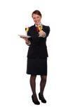 De dienende dranken van de stewardess stock afbeelding