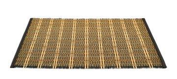 De dienende geïsoleerde mat van het bamboestro Royalty-vrije Stock Afbeeldingen