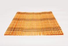 De dienende mat van het bamboestro Stock Foto