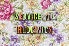 De dienst aan het mensdommensen stock afbeeldingen