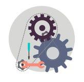 De dienst Bedrijfsconcepten vectorontwerp Royalty-vrije Stock Afbeeldingen