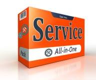 De dienst die oranje pakconcept adverteren Royalty-vrije Stock Afbeelding