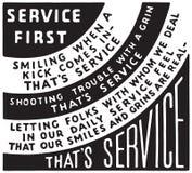 De dienst eerst royalty-vrije illustratie