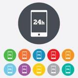 De dienst en steun voor klanten. 24 uren. royalty-vrije illustratie