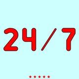 de 24/7 dienst het is pictogram royalty-vrije illustratie