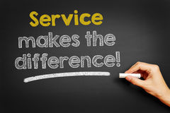De dienst maakt het verschil! stock foto's