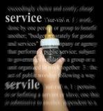 De dienst nu Royalty-vrije Stock Afbeeldingen